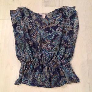 Forever 21 sheer paisley print shirt